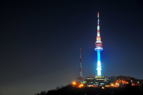 N Seoul Tower_at_night_view all_tour